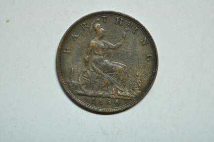 World Coins - Great Britain; Farthing  1886  Victoria   VF
