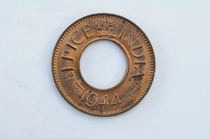 World Coins - India British  Pice 1944  UNC