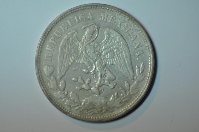 World Coins - Mexico; Silver Crown Peso 1902 Mo A.M.  VF/XF