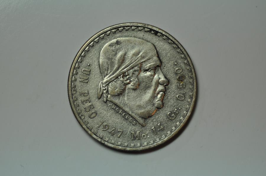 World Coins - Mexico; Silver Peso 1947