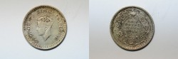 World Coins - India British Silver 1/2 Rupee 1944  VF+
