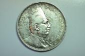 World Coins - Egypt; Silver Crown 20 Piastres AH1341 - 1923  XF