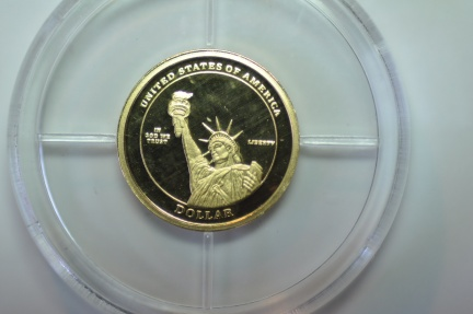 World Coins - USA;Gold Presidential Dollar Trials - Abraham Lincoln  Proof