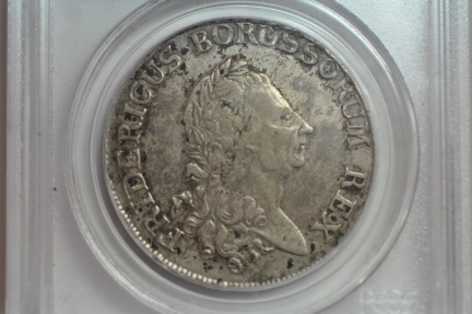 World Coins - Prussia; Silver Thaler 1786 A  PCGS XF45