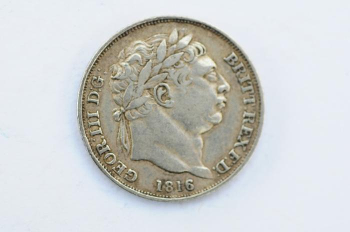 World Coins - Great Britain Silver 6 Pence 1816  XF