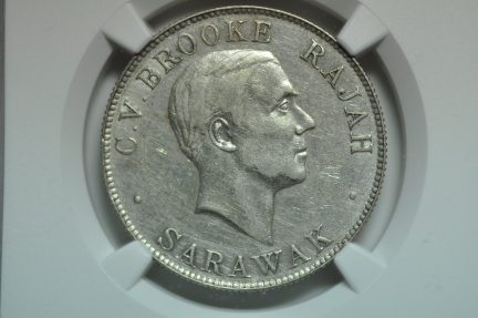 World Coins - Sarawak; Silver 50 Cents 1927H NGC XF45