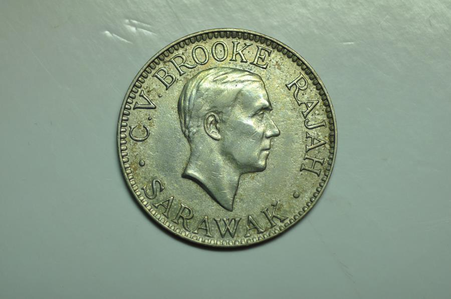 World Coins - Sarawak; 10 Cents 1934 H     XF