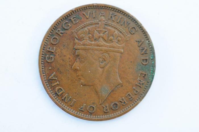 World Coins - British Honduras Cent 1947  VF