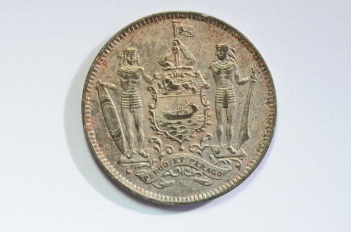 World Coins - British North Borneo 5 Cents 1938 H  XF
