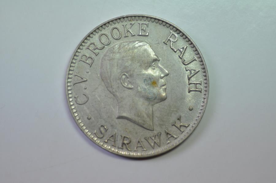 World Coins - Sarawak; 10 Cents 1934 H     Unc