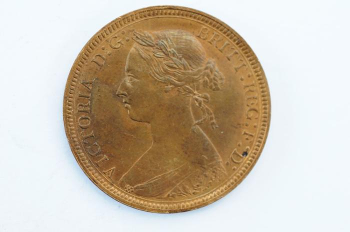 World Coins - Great Britain 1/2 Penny 1885  UNC