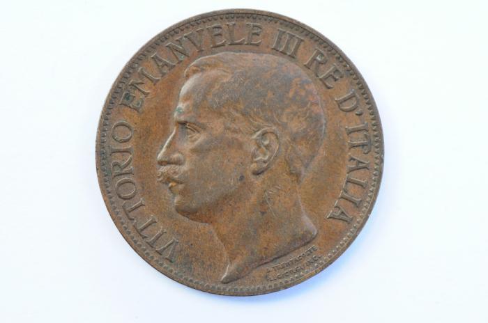World Coins - Italy10 Centesimi 1911 R  XF