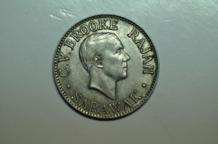 World Coins - Sarawak; 10 Cents 1934 H     XF+