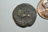 World Coins - India, Mysore; Copper 20 Cash  1835  VF