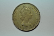 World Coins - Malaya & British Borneo; 50 Cents 1954  XF+