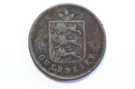 World Coins - Guernsey 4 Doubles 1830  Fine