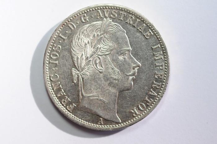 World Coins - Austria Silver Florin 1863 A  UNC