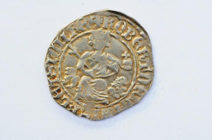 World Coins - Naples AR Gigliato ND - 1309-1343