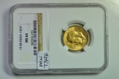 World Coins - India; Gold Sovereign 1918 I  - NGC MS64