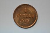 World Coins - Guernsey; Double 1938 H   BU