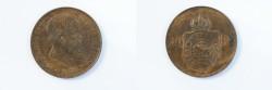 World Coins - Brazil Reform Coinage Bronze 40 Reis 1879  AU/UNC