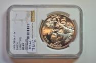 World Coins - China; Silver Panda - 10 Yuan 1995 Large Twig   NGC MS69