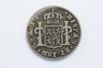 World Coins - Mexico Silver 1/2 Real  1820 JJ  Fine+