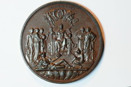 World Coins - Great Britain Bronze medal, Golden Jubilee, struck 1887    AU