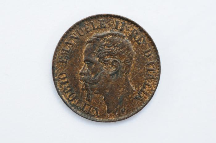 World Coins - Italy Centesimo 1867 M  AU