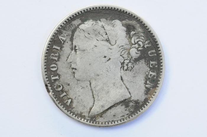 World Coins - India British Silver Rupee 1840 VF