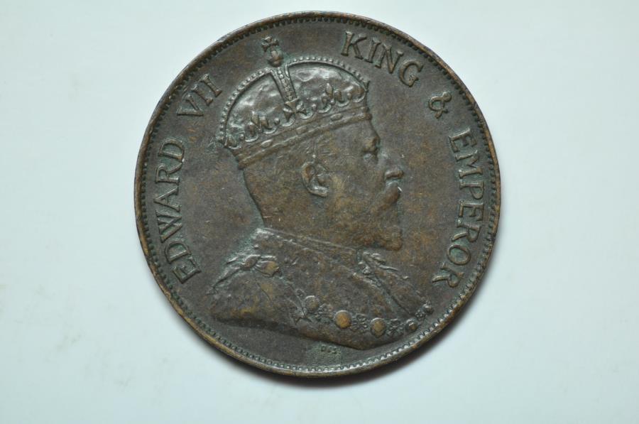 World Coins - Hong Kong; Cent 1902  XF