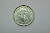 World Coins - British Guyana; Silver 4 Pence 1943  BU