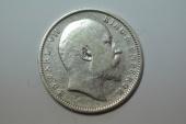 World Coins - India, British;  Silver Rupee 1910  VF