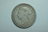 World Coins - Straits Settlements; Silver 50 Cents 1896