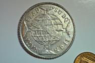 World Coins - Brazil; Silver Crown 960 Reis 1813 (struck on 8 Reales)  XF