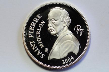 World Coins - St. Pierre & Miquelon Silver pattern essai 1/4 Euro 2004  PROOF