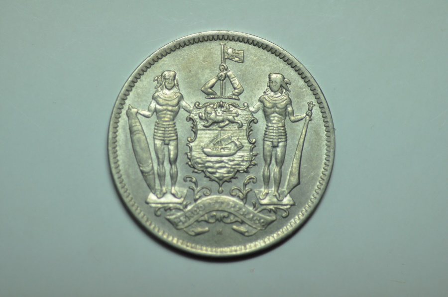 World Coins - British North Borneo; 5 Cents  1938H   XF/AU