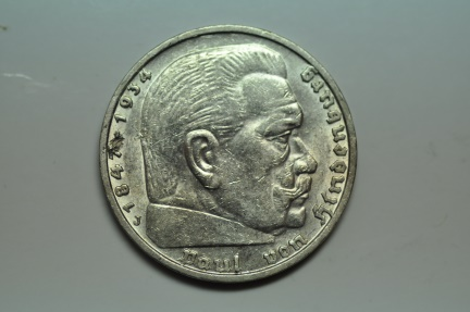 World Coins - Germany; Silver 5 Reichsmark 1939 J