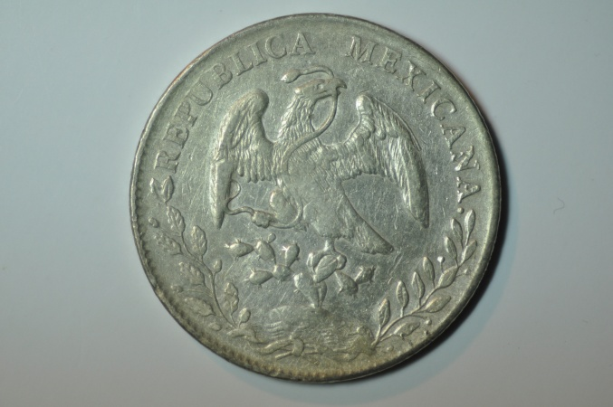 World Coins - Mexico; Silver 8 Reales 1894 Zs F.Z.  XF-