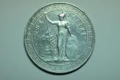 Great Britain; Silver Trade Dollar 1912 B  XF/AU