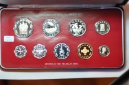 World Coins - Malta; Proof Set 1978 - 9 coins with box & COA  PROOF