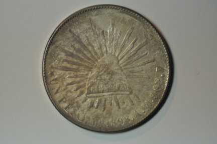 World Coins - Mexico; Silver Crown Peso 1898 Mo A.M.  XF