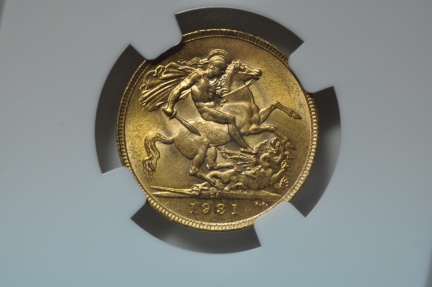 World Coins - South Africa; Gold Sovereign 1931 SA   NGC MS64