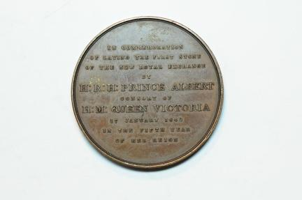 World Coins - Great Britain bronze medal The Foundation Ceremony of the New Royal Exchange 1842  XF