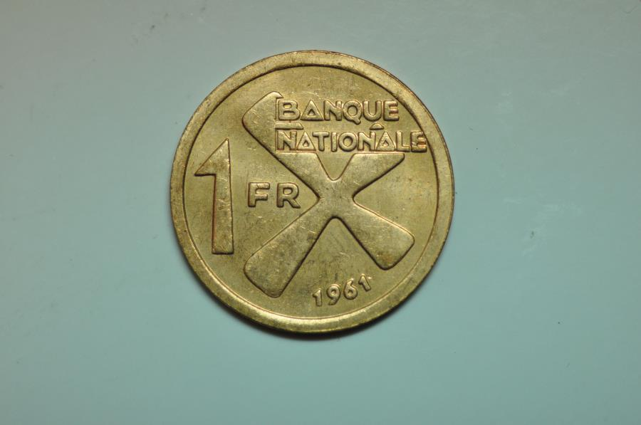 World Coins - Katanga - Former Province of the Belgian Congo; Franc 1961  UNC