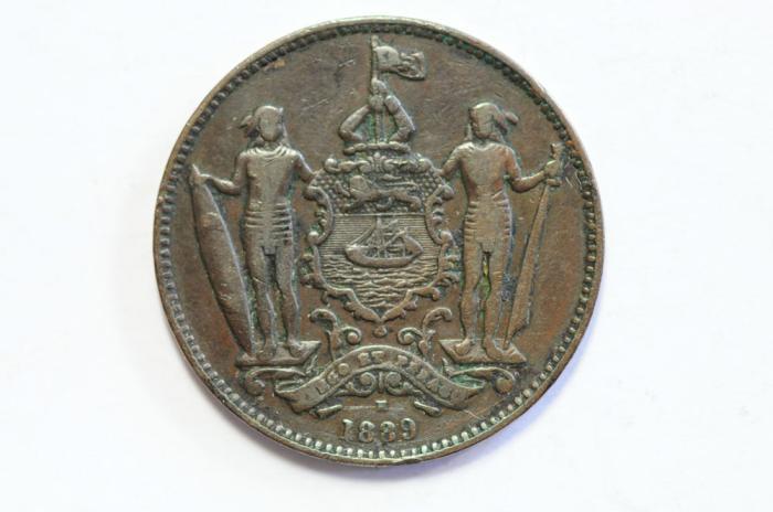 World Coins - British North Borneo Cent 1889 H  VF