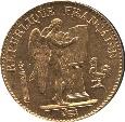 World Coins - France,Gold 20 francs, Paris mint, 1897, Unc