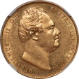 World Coins - Great Britain 1837 William IV Sovereign THOS H. LAW Collection NGC MS-61 RRR!!