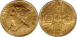 World Coins - Great Britain 1712 Anne Gold Guinea About Uncirculated