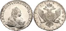 World Coins - Russian rouble 1744 SPB NGC AU Details.